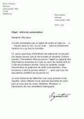 lettere pv lettre contestation pv contrat de travail 2018