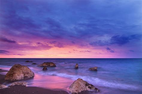 earth sky horizon beach sunset wallpaper