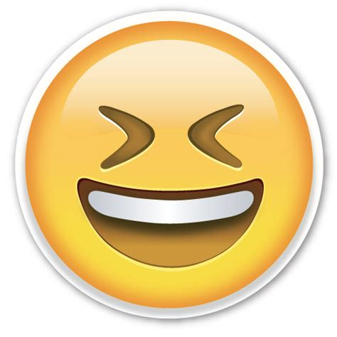 emoji transparent smiling face with open mouth and tightly closed eyes