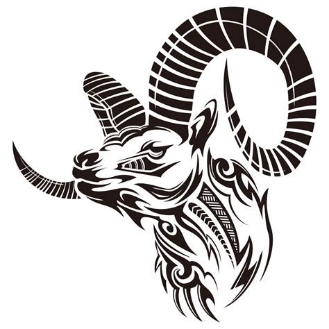 cool tribal goat head tattoo design cliparts co