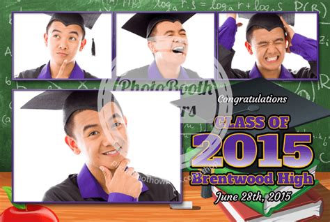 graduation photo booth layout graduation party postcard photo booth template