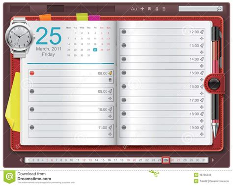 make a personal calendar with photos free vector open personal organizer template royalty free stock