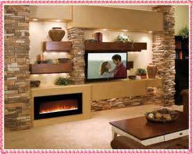 marvelous Corner Unit Furniture Living Room #6: stone-tv-unit-designs-amazing-stone-wall-decoration-ideas.jpg