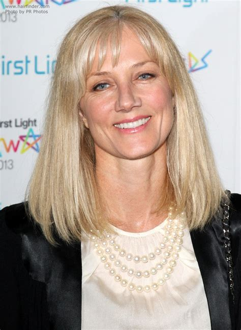joely richardson modern shoulder length hairstyle for a