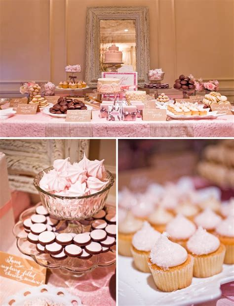 wedding shower dessert ideas a sweet pink dessert table green wedding shoes weddings fashion lifestyle trave