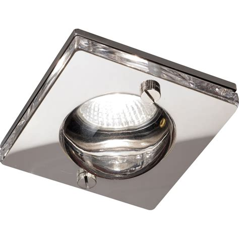 square fitting light bulbs square chrome clear glass ip65 rated gu10 shower downlight