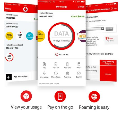 mobile data vodafone use the app for easy access to your account and settings