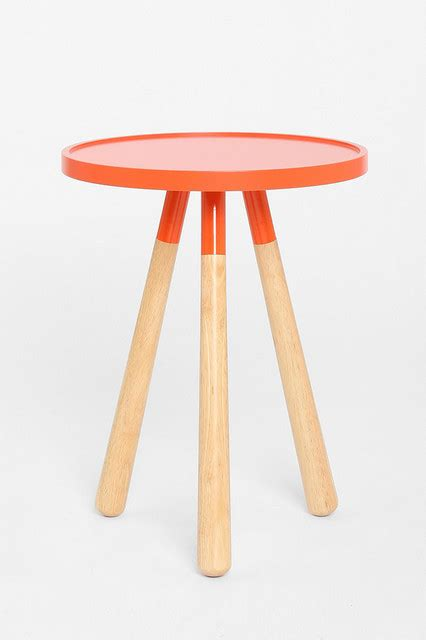 orange accent tables tripod table orange modern side tables and end tables