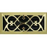 10 X 32 Floor Register - style brass plated floor registers