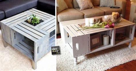tavolino soggiorno fai da te tavolini fai da te con cassette di legno 20 idee creative
