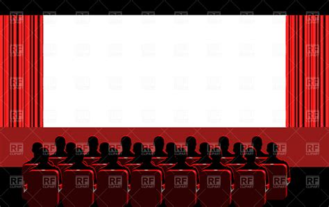 clipart pictures theater blue vector image 1910 rfclipart