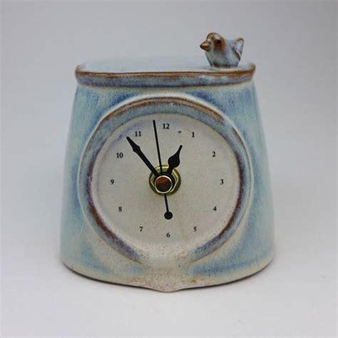 Ceramic Clocks Handmade - handmade ceramic clock with bird ceramics clock and the