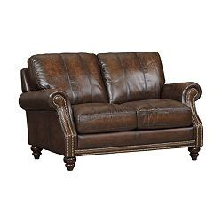havertys leather sofa