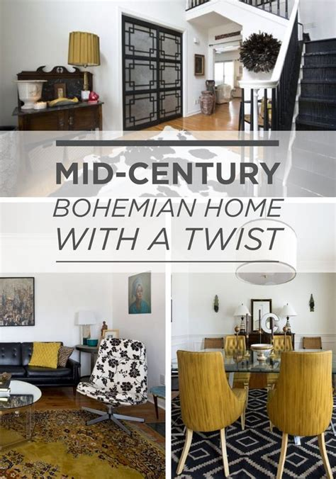 brian s mid century bohemian with a twist home home colors and house tours