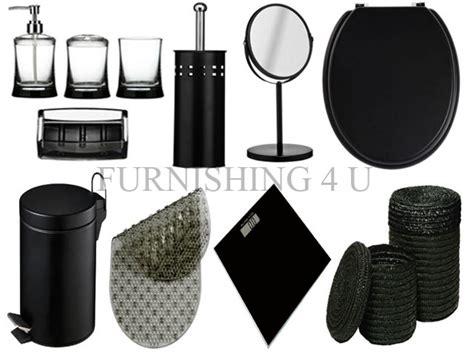 black bathroom accessories set 11pc black bathroom accessories set bin toilet seat