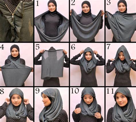 Cara Memakai Jilbab Segi Empat Modis tutorial jilbab segi empat modis