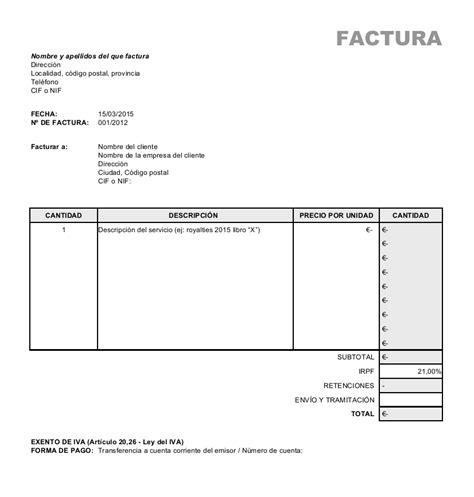 modelos de facturas 2015 la fiscalidad del escritor iii 191 c 243 mo se hace una