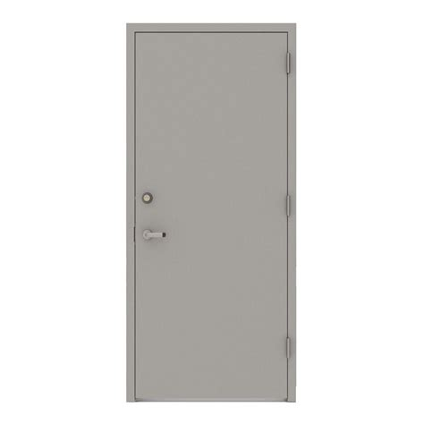 Commercial Door And Frame by L I F Industries 36 In X 80 In Gray Flush Left