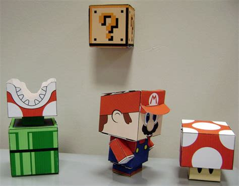 film lego ular papercraft mario characters are totally cube ular technabob
