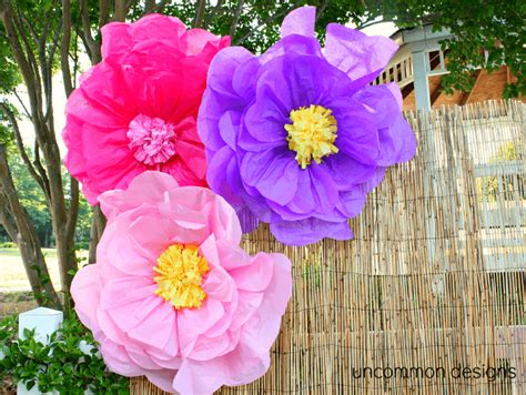 How To Make Hawaiian Paper Flowers - make the coolest tissue paper flowers
