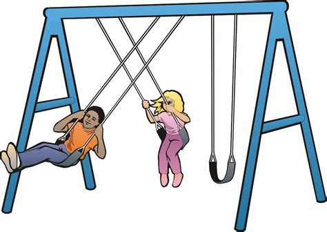 free online swinging swing cartoon clipart