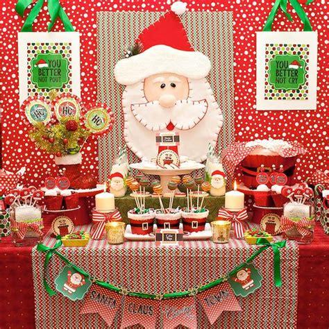 imagenes de cumpleaños en navidad kara s party ideas santa claus is coming to town christmas