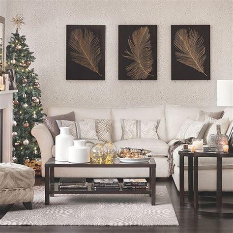 christmas home decor uk neutral christmas living room decorating housetohome co uk