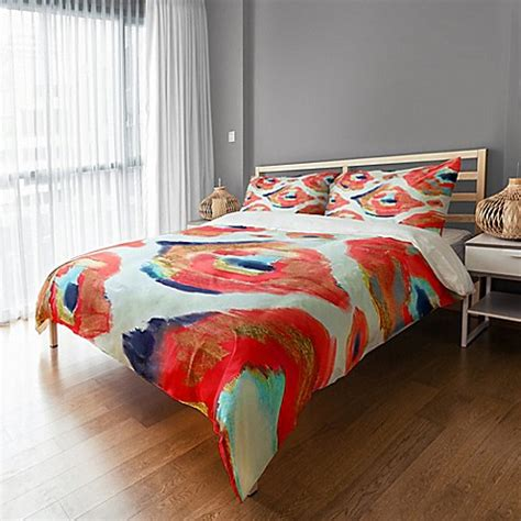 abstract bedding abstract ikat duvet cover bed bath beyond