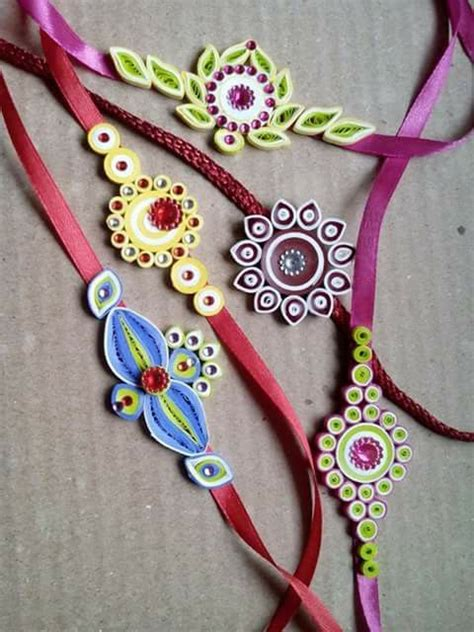 How To Make Rakhi With Paper - 52 best paper quilling rakhis images on
