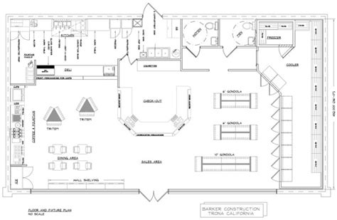 Store Floor Plan by Convenience Store Design Consultants Jaycomp