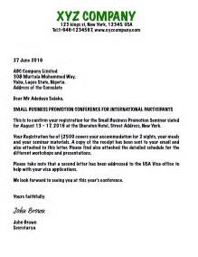 Visa Letter Of Invitation India Writing An Invitation Letter For Business Visa Usa B1