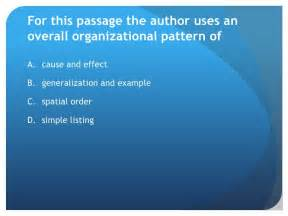pattern of organization generalization and exle andes