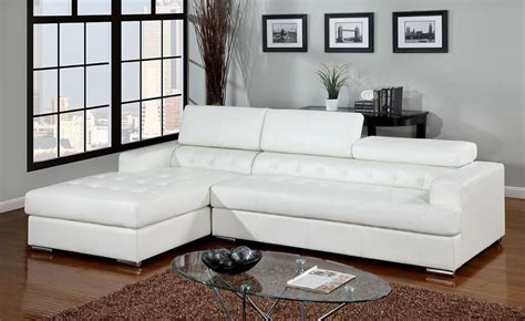 lucon white tufted leather sectional