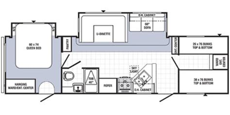 puma travel trailer floor plans 2014 palomino puma 30 fbss floorplan prices values