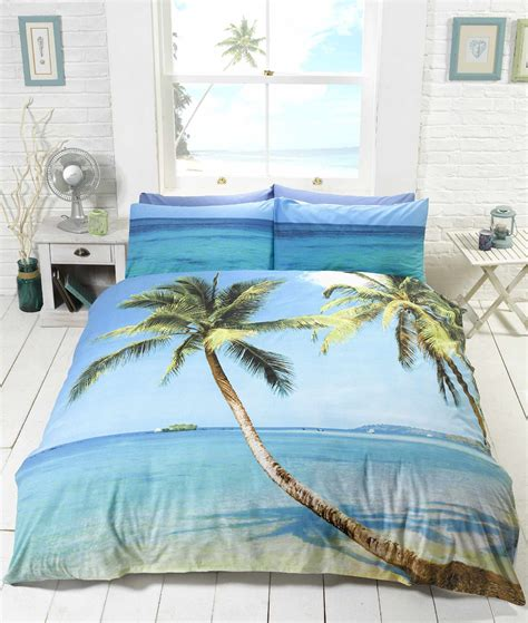 island bedding beach scene tropical island palm tree bedding duvet cover