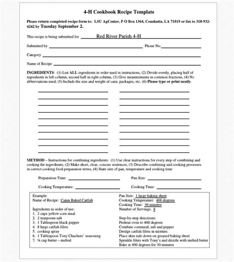 creating a cookbook template cookbook templates create your own recipe book word pdf