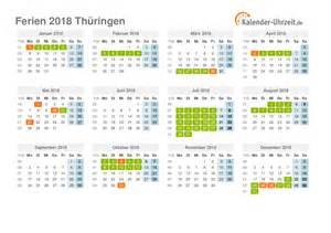 Kalender 2018 Zum Ausdrucken Ferien Hessen Ferien Th 252 Ringen 2018 Ferienkalender Zum Ausdrucken
