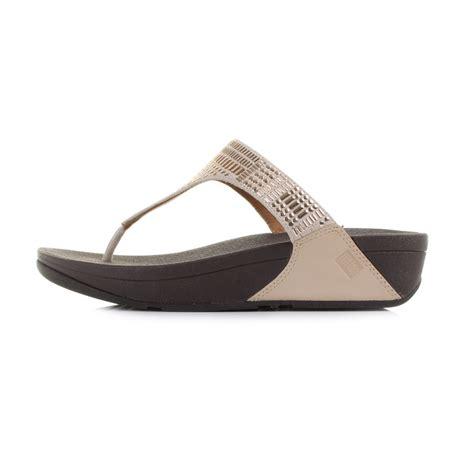 Wedge Flip Flops womens fitflop aztek chada gold wedge flip flop