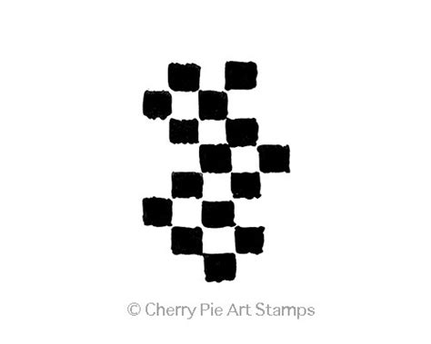 Large Checkers Journal Cling Rubber Cherrypie