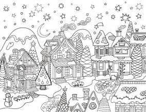 christmas village coloring