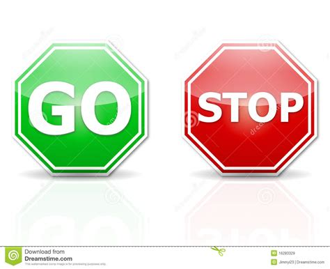 Go Go Go Stop stop and go royalty free stock images image 16283329
