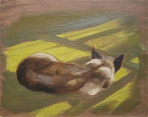J Sharkey Sketches by Siamese Cat Painting By J Sharkey