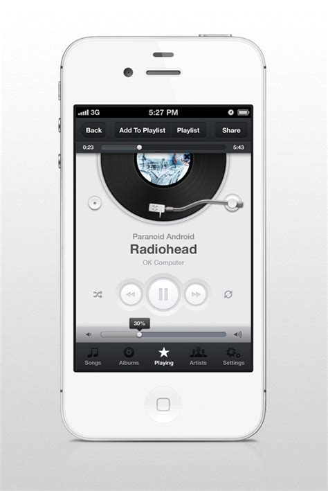 music layout on iphone music app ui iphone on behance