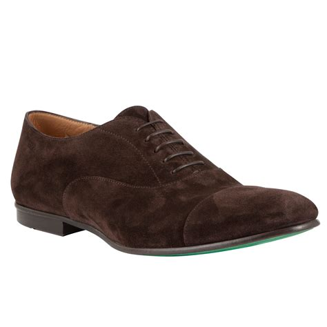 hugo makkio suede oxford shoes in brown for lyst
