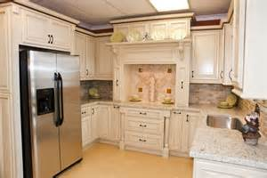 Knotty Oak Kitchen Cabinets by Cream Glaze Kitchen Cabinets With Built In Fridge Yelp