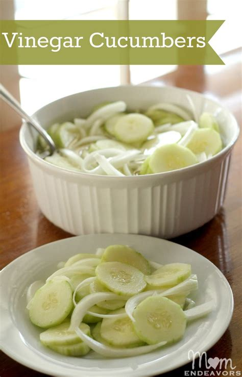 cucumber recipe vinegar cucumber salad easy to make low in calories