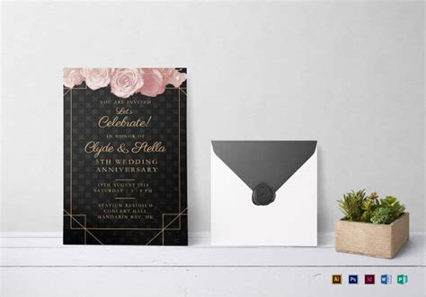 Wedding Anniversary Cards Psd Templates by 20 Wedding Anniversary Invitation Card Templates Which