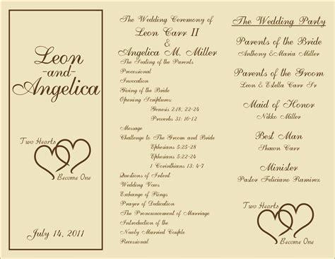 Printable Wedding Programs On Pinterest Free Printable Wedding Wedding Program Templates And Wedding Reception Program Template 2