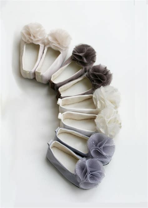 flower satin shoes satin flower shoes baby toddler sizes neutral by