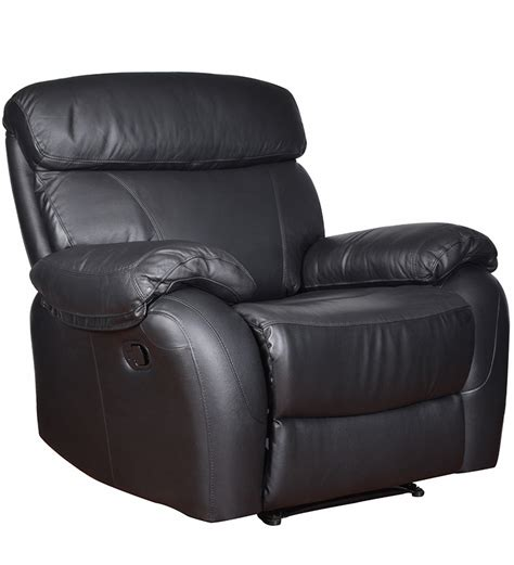 single seater recliner sofa single seater pure leather recliner rocker sofa in black